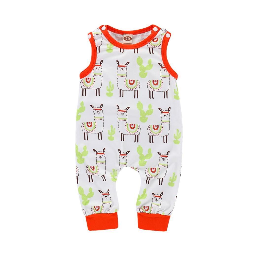 BeautyTop Baby Body 0-24 Monate,Baby Overall Sommer Bodys Baby M/ädchen Junge New Born Kleidung Set Bekleidungssets Eingestellt Kurz/ärmelige Dino Harem Jumpsuit mit Streifenmuster