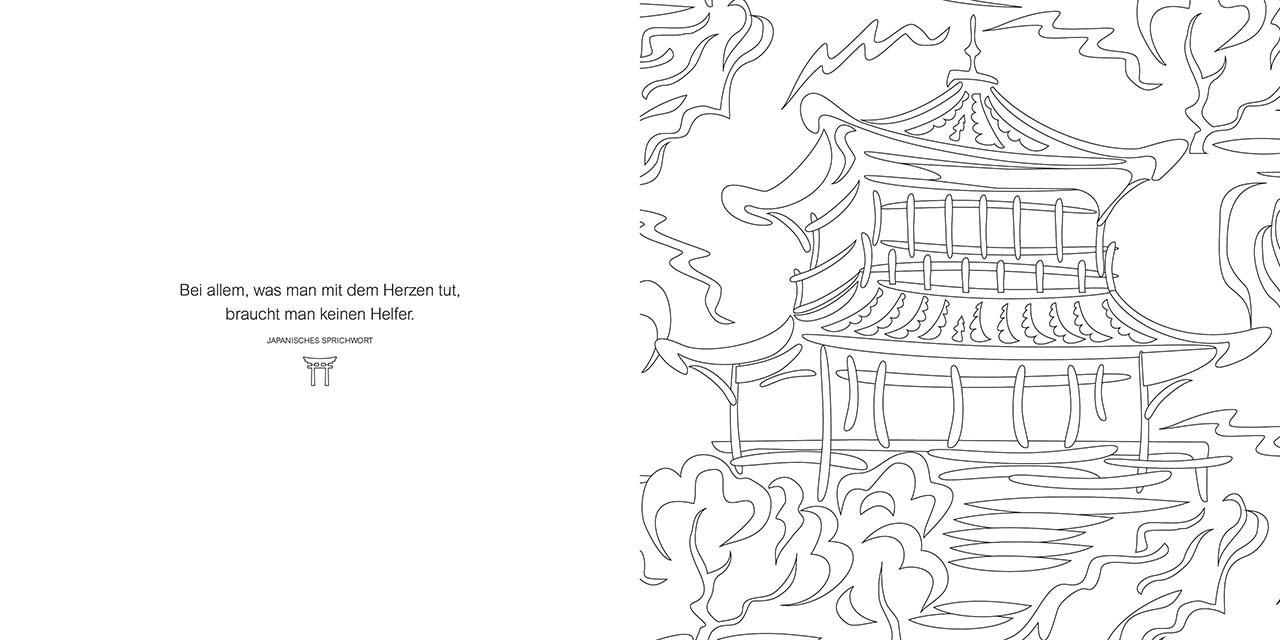 Ausmalglück Japan: Gedanken & Bilder: Amazon.de: Bücher