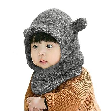 Enfant Cagoule Bébé Garçon Fille Cache Oreilles Capuche Animaux Hiver  Cadeaux d anniversaire Mignon Chapeau 5feb3ebccb4