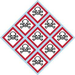 GHS Toxic, Skull, Skull and Crossbones, ...