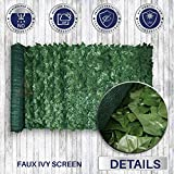 Windscreen4less 4' x 8' Artificial Faux Ivy Leaf Privacy Fence Screen Decoration Panels Windscreen Patio