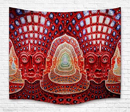 TJFZARTCC Psychedelics Art Tapestry Wall Handing, Tool 10000 Days Alex Gray Tapestry Wall Art for Bedroom Living Room Dorm Decor 51 H x 59 W