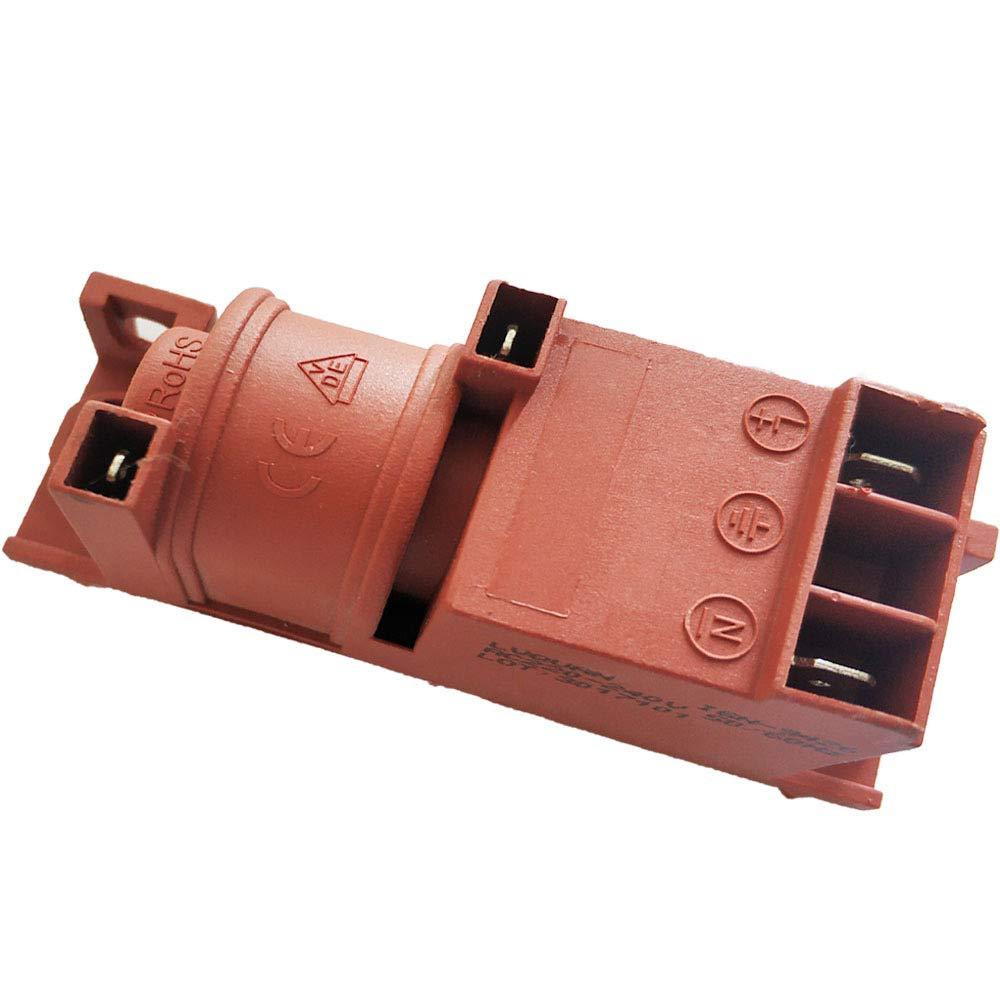 Andifany Ac220V Estufa de Gas Pulso AC Encendedor de Pulsos Eficiente Y Seguro 2 Terminales Dos Puntos de Venta Conexiones Estufa de Encendido Horno Europeo