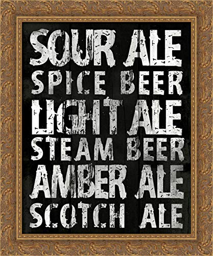 (Sour Ale 20x24 Gold Ornate Wood Framed Canvas Art by Grey,)