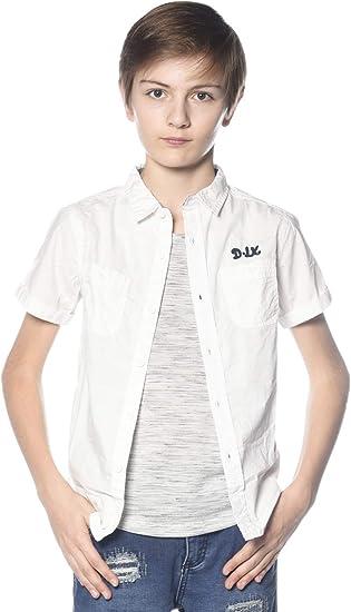 DeeLuxe Camisa - Casual - para niño Blanc casse 12 años: Amazon.es: Ropa y accesorios