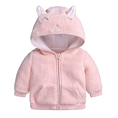 Amazon.com: puseky Newborn Baby Boys Girls Cartoon Ear Hooded Zipper ...
