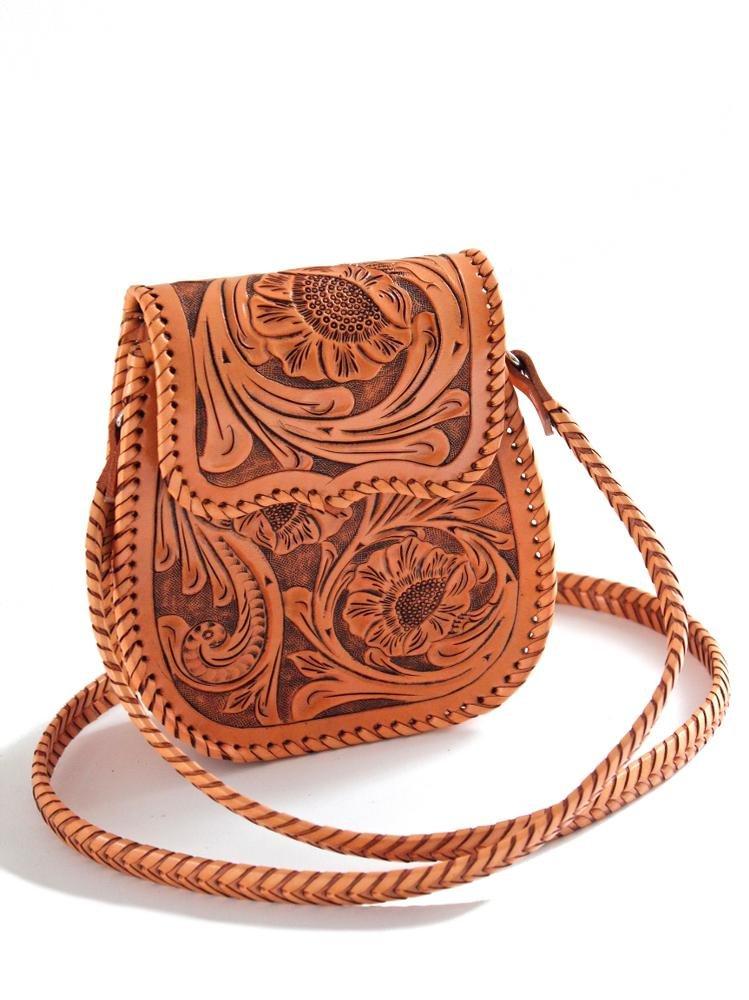 Que Chula Chiquita Handtooled Leather Women's Bag Natural CHIQUITA-NAT