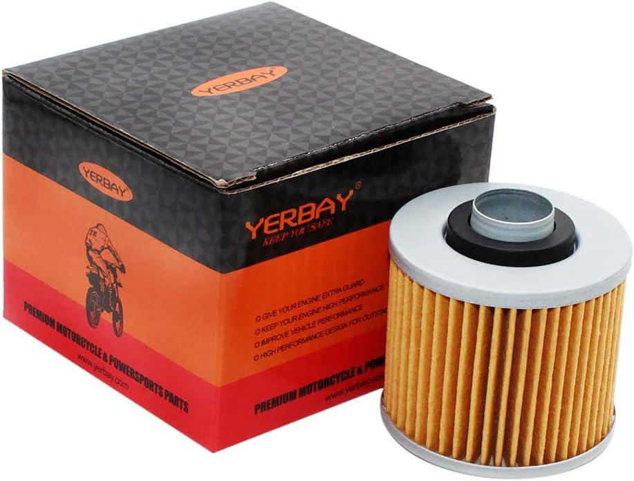 Yerbay Motorcycle Oil Filter for Yamaha XVS400 Dragstar 400 1996-2007 / SR 400 SR400 1992-2008 2015-2016