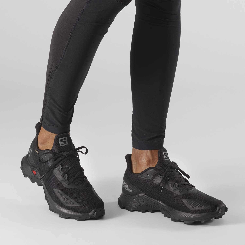 SALOMON vrouwen Alphacross Blast Gtx W Trail Running schoen Zwart Zwart Zwart
