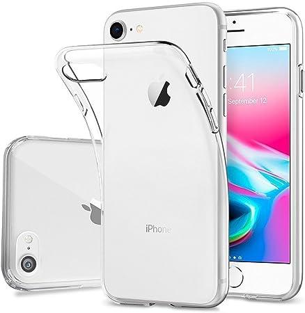 comprar DOSMUNG Funda para iPhone 7 iPhone 8, Ultra Fina Suave TPU Gel Carcasa, HD Clara Caso, Anti- Choques, Anti- Arañazos, Protección a Bordes y Cámara, Premiun Carcasa para iPhone 7/8 - Transparente