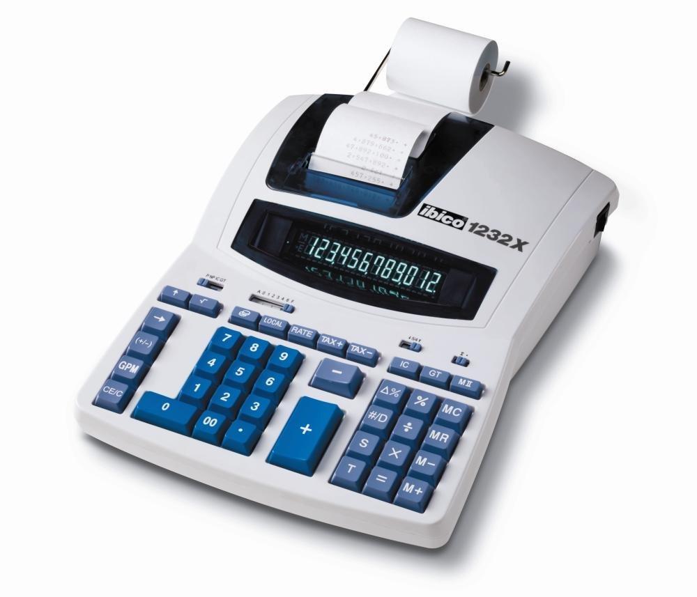 Ibico 1232X - Calculadora impresora (pantalla led, 12 ...
