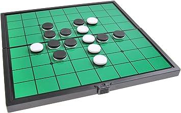 Quantum Abacus Juego de Mesa magnético (tamaño Compacto de Viaje): Reversible - Piezas magnéticas, Tablero Plegable, 19cm x 19cm x 1cm, Mod. SC6604 (DE): Amazon.es: Juguetes y juegos