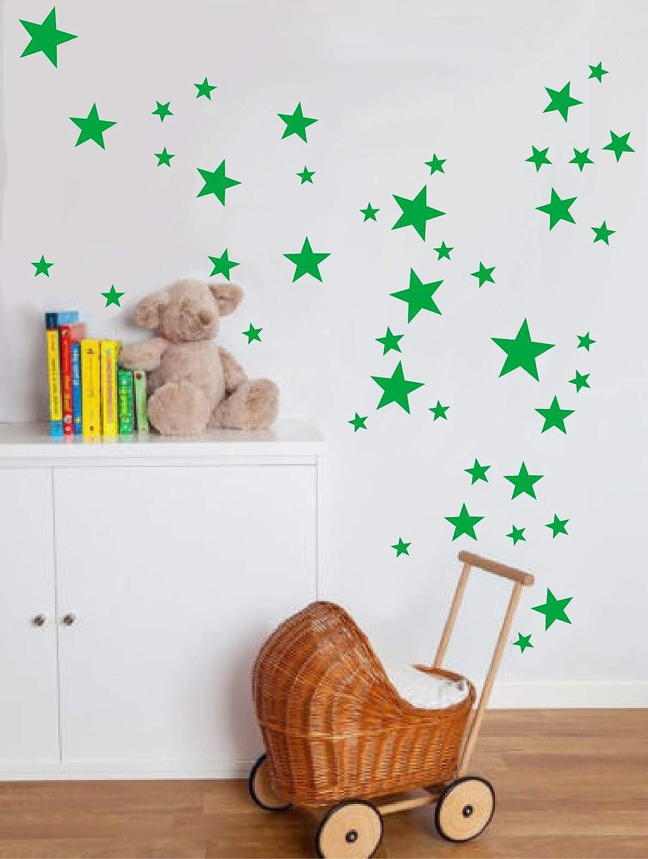 aqua vert Vinyle /étoiles Stickers muraux 64/Diff/érentes tailles
