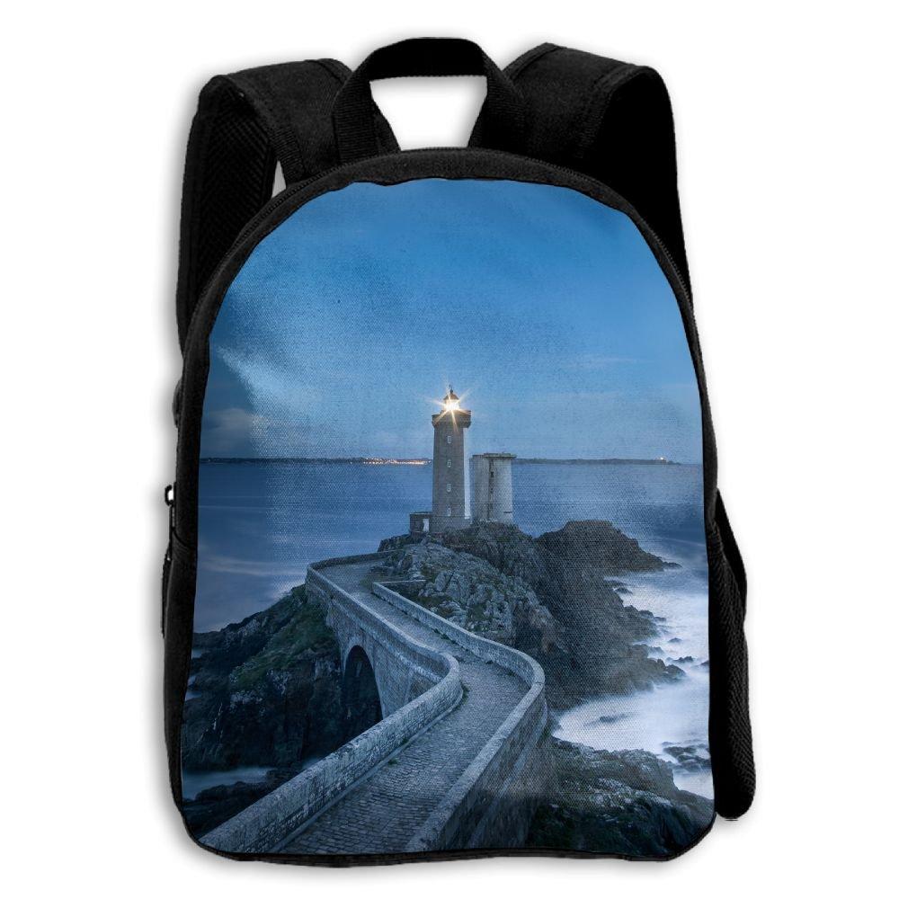 Lighthouse at Seaを印刷耐久性Kid 'sミニバックパック B07CCJY4VH