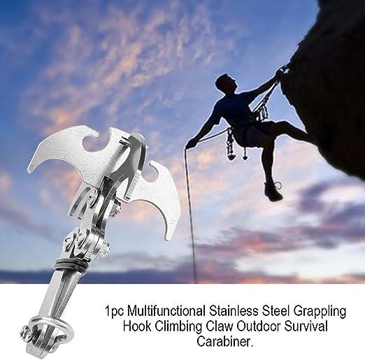 Al aire libre Grappling Hook, escalada gancho multifuncional de acero Gear Rock escalada pinza para