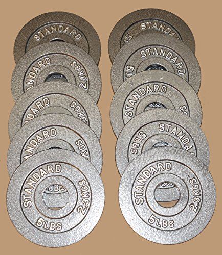 TDS 5 Lb Olympic Plates 10 pc Package