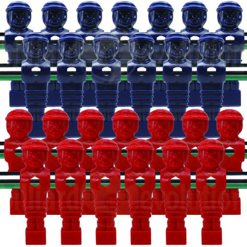 Billiard Evolution 26 Red and Blue Tournament Style Foosball Men
