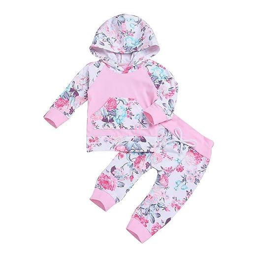 555161900 Amazon.com  Lurryly❤Newborn Baby Boys Girls Floral Hoodie Tops ...