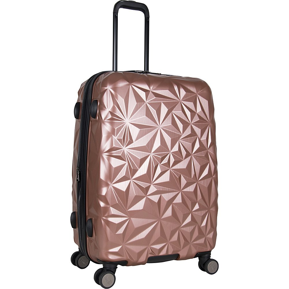 Aimee Kestenberg Women's 24'' Abs Expandable 8-Wheel Upright Checked Luggage, Rose Gold