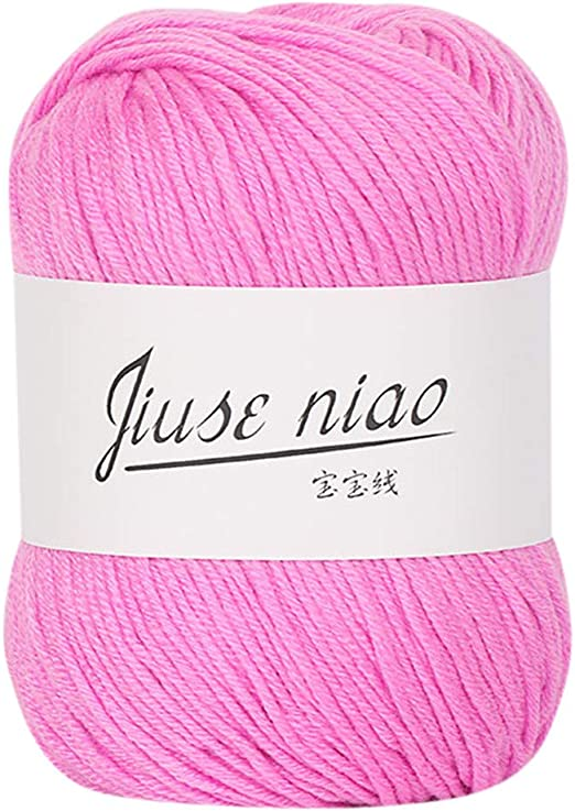 Ovillo de lana para tejer, de algodón suave, creativo, 1 pieza, 50 ...