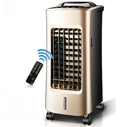 GX&XD Tranquilo sin bisturí Ventilador del acondicionador de aire,Enfriadores evaporativos Con control remoto Doble