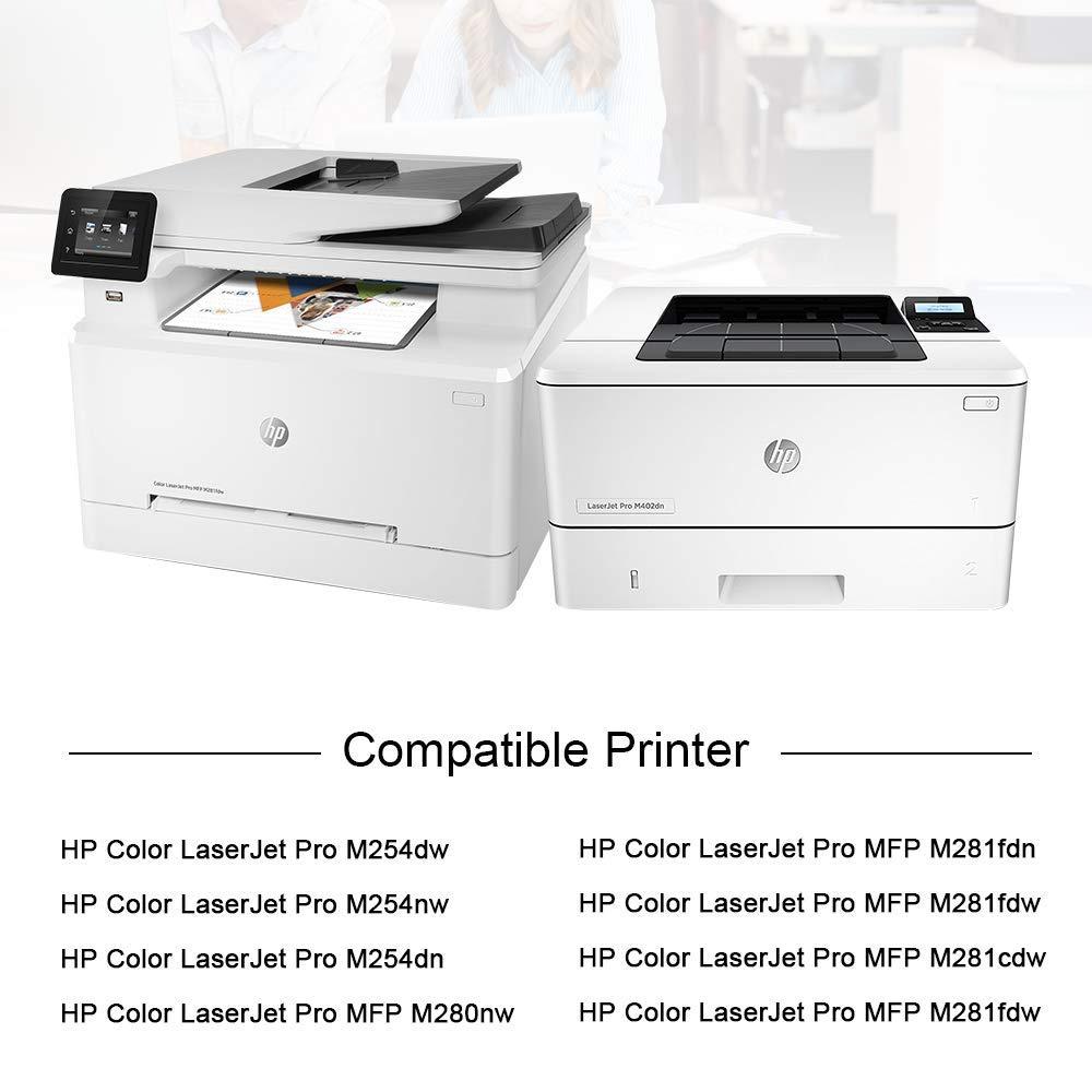 7Magic 203A CF540A - Tóner Compatible con HP CF540A CF541A CF542A ...