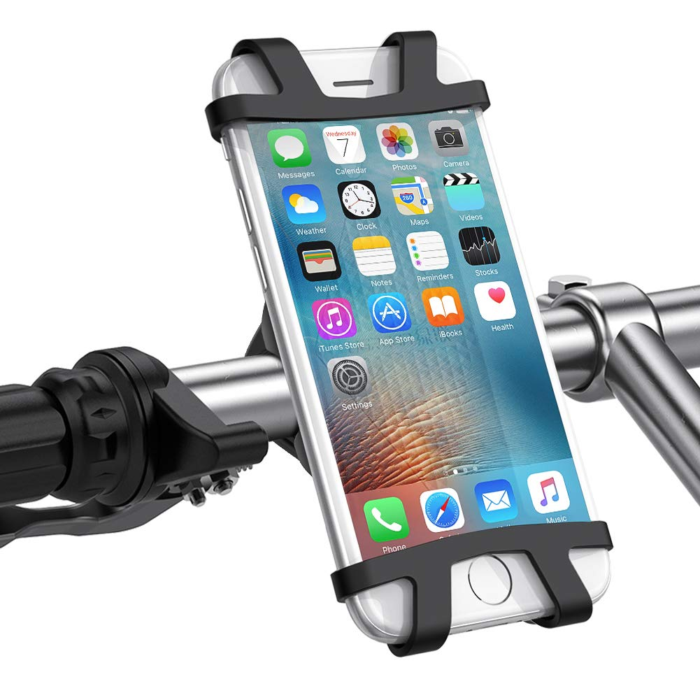 UGREEN Bike Mount Bicycle Phone Holder Universal Cradle Rack Compatible for iPhone XS MAX, XR, X, 8 Plus, 7 Plus, 6 Plus, Galaxy S9 S8 Plus, Note 8, S7 Edge, Google Pixel 2 XL, Huawei Mate 10, LG V30 V20 G5 G6, Nexus 6P 5X, GPS and other 4-6.2 Inch Devices