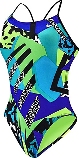 dce508a1a3 Amazon.com  Nike Women s Retro Cut-Out Tank Swimsuit  Sports   Outdoors