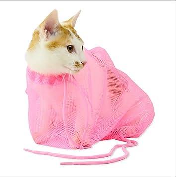JINZE Kit De Lavado para Gatos, Artefacto para Baño De Gatos, Tijeras para Mascotas