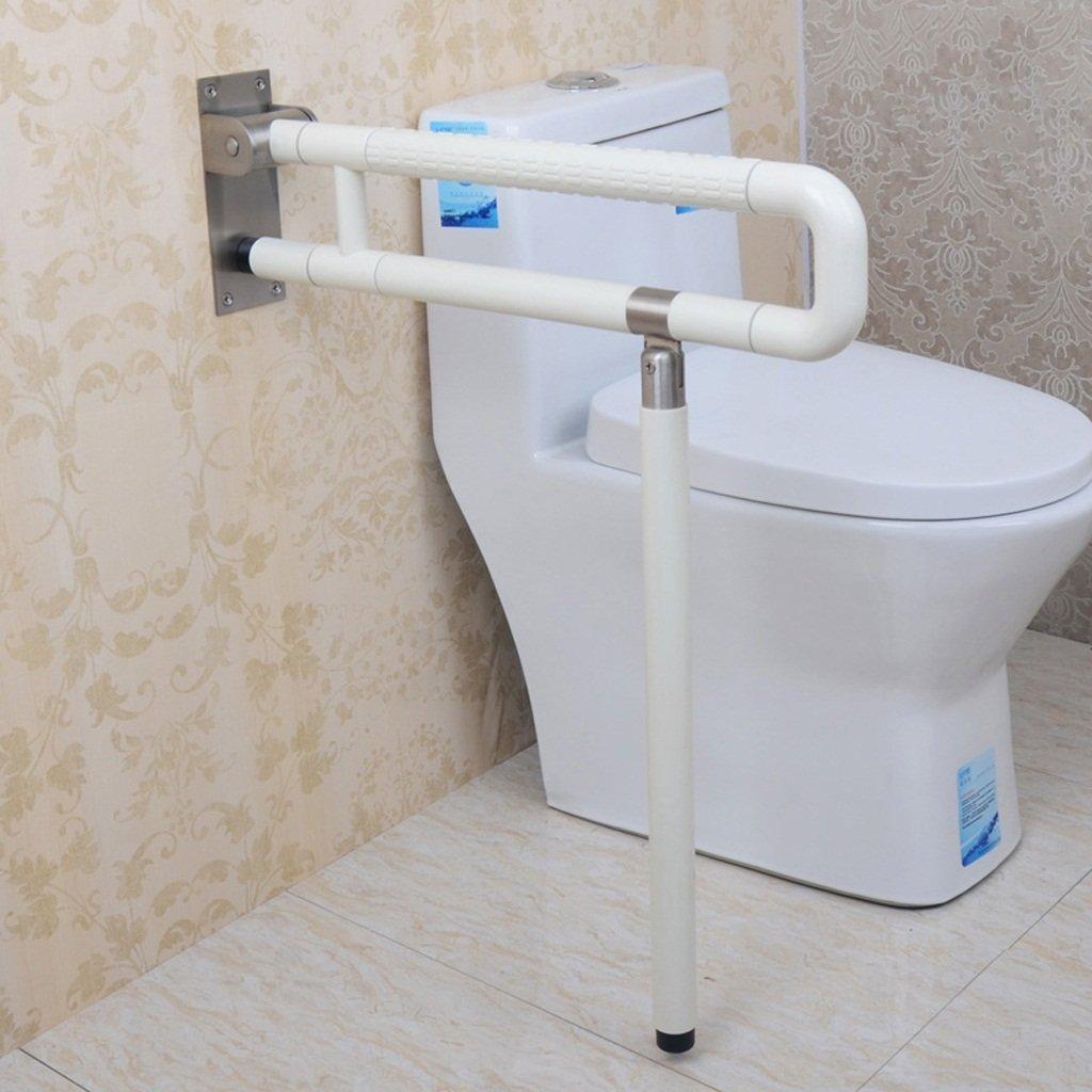 アームレストバリアフリー厚い高齢者用手すり障害者のためのバスルームトイレ折りたたみ式バスルームナイロン手すり ( 色 : 白 ) B072PV93FV  白