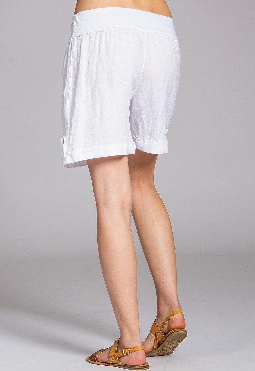 CASPAR BST002 Short en lin pour femme  Amazon.fr  Vêtements et accessoires b093c5cc01a