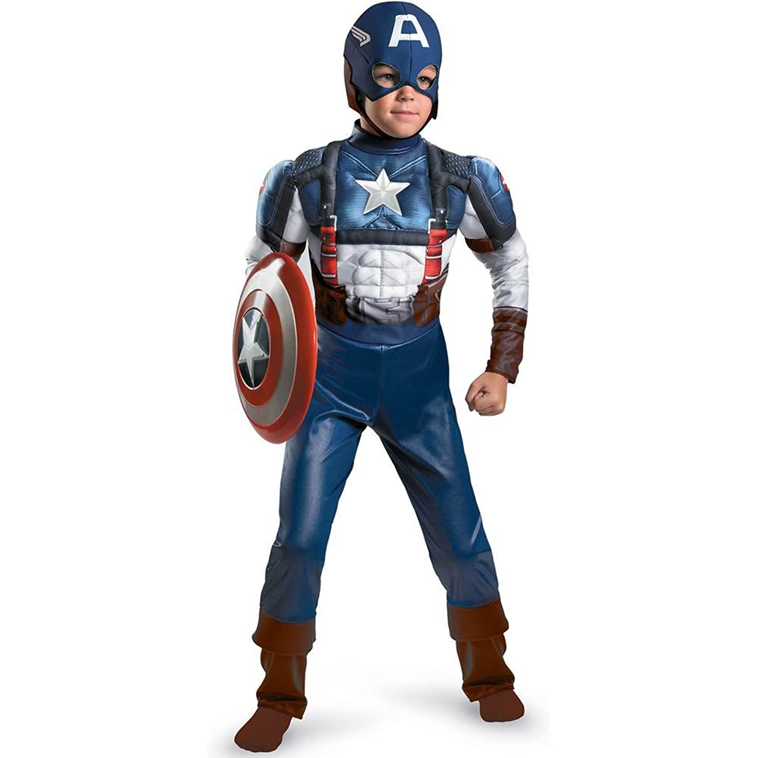 Amazon Captain America Movie Classic Muscle Costume Toys & Games
