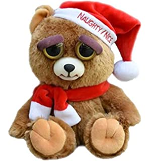 William Mark Feisty Pet Santa Bear: Ebeneezer Claws Stuffed Attitude Plush Animal