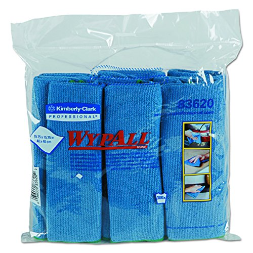 Kimberly-Clark Wypall 83620 Microfiber Cloths with Microban Protection, 15-3/4