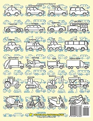 Trucks and Other Vehicles EASY TO DRAW Cars Draw /& Color 24 Various Vehicles