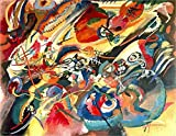 """This is an Unframed 24"""" by 19"""" Canvas Prints of Study For Composition Vii - By Wassily Kandinsky"""