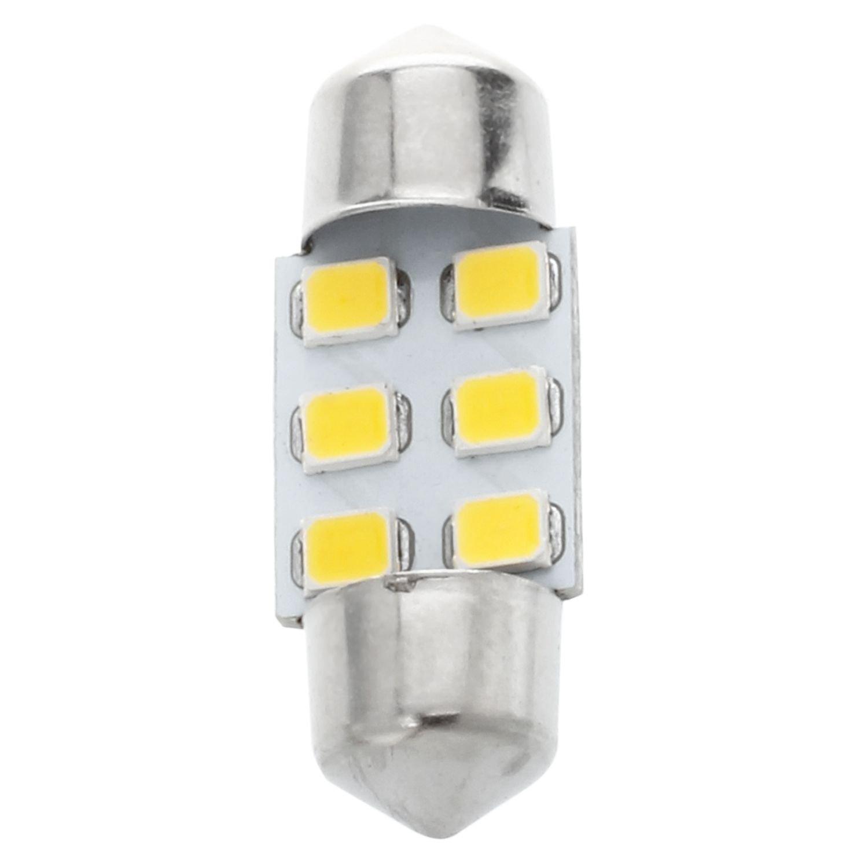 TOOGOO R 8 x 31 mm 6 SMD LED Warm white car internal garland map reading lamp
