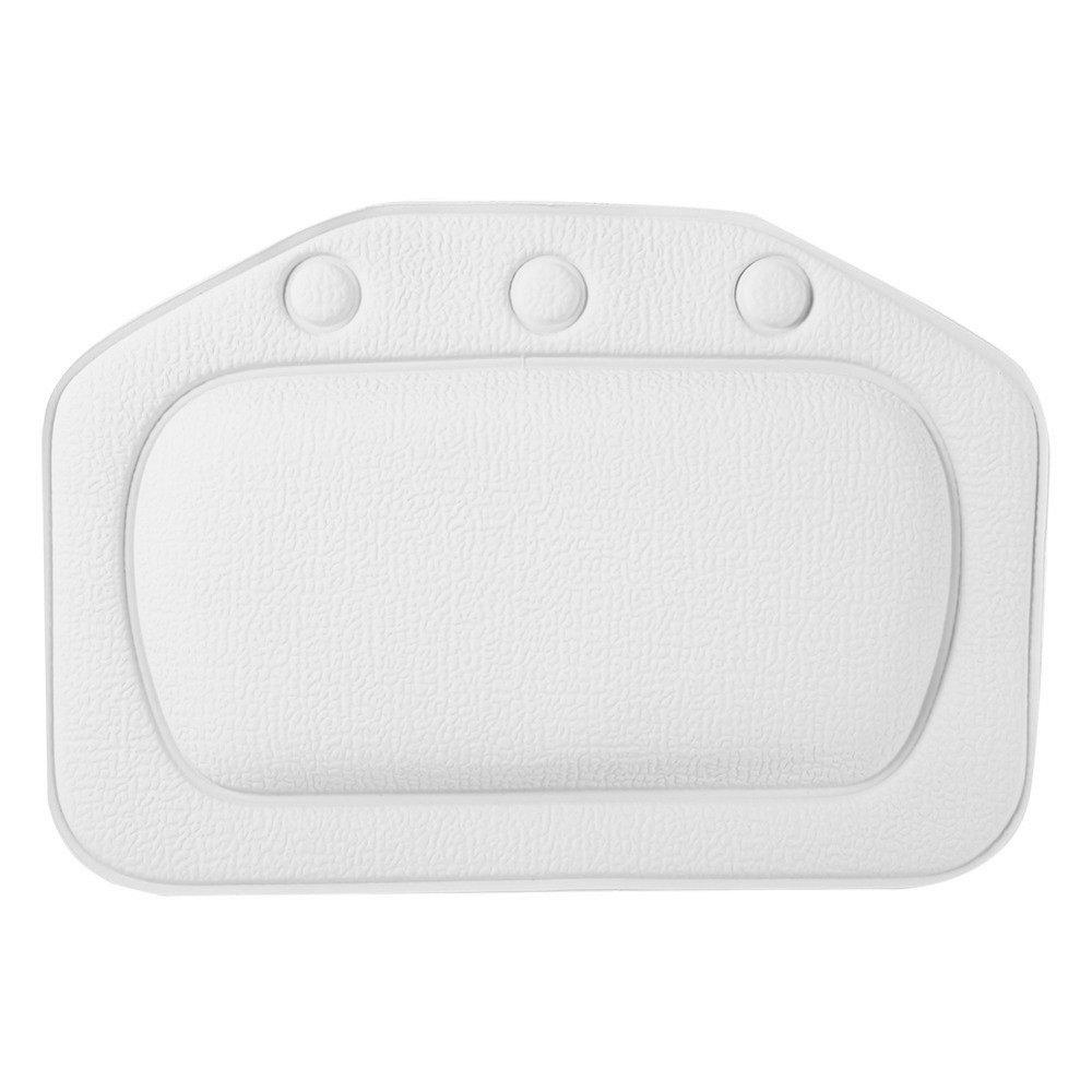 XZANTE Bagno Vasca Cuscino Cuscino Impermeabile in PVC da Bagno Cuscino con Sucker Testa e del Collo Cuscino Bianco