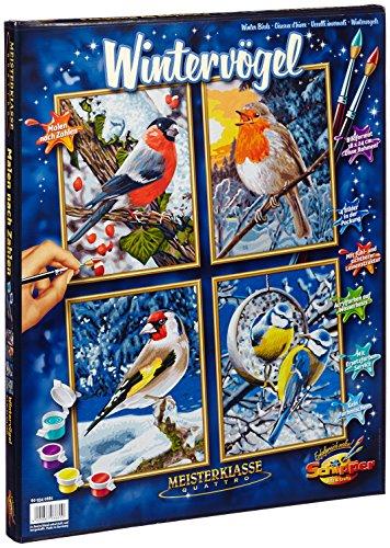 Schipper 609340661 - Peinture par numǸros Oiseaux d'hiver - (Quattro)