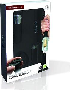 Vin Bouquet FI 010 Aire Press Corkscrew Set, Black, 16 x 24.5 x 5 cm
