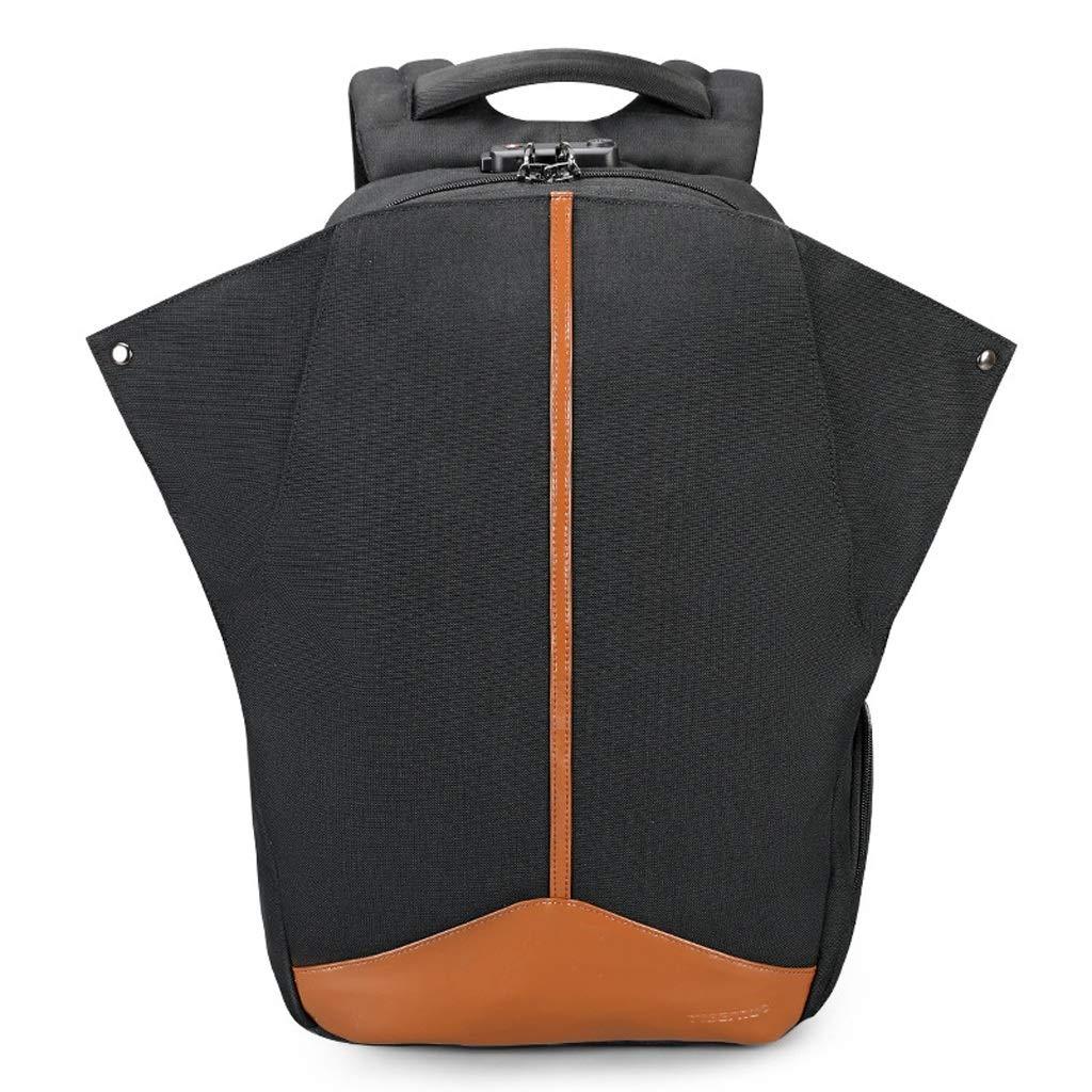 HBJP 旅行ノートブックスクールバックパック盗難防止バックパックコンピュータバッグ旅行レジャーバッグ15.6インチ バックパック (色 : 黒) B07NW7J34S 黒