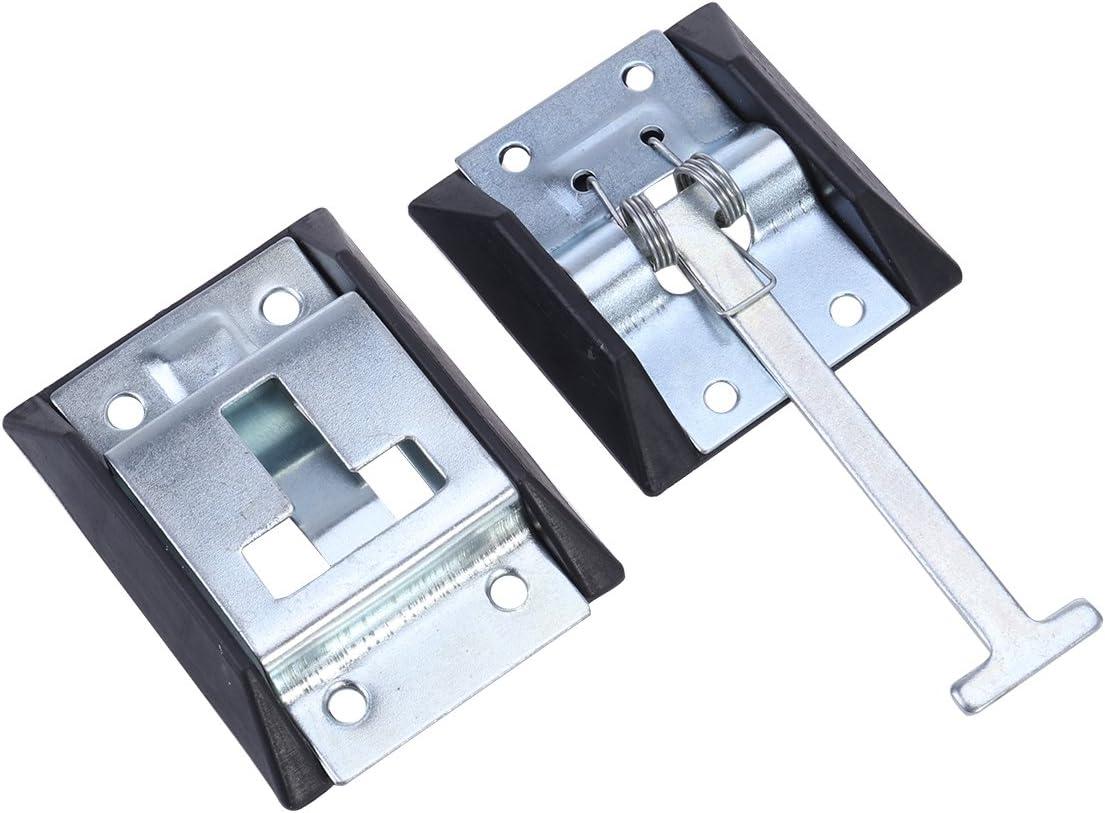 Vosarea Soporte de Puerta de Entrada de Metal Estilo T para Remolque de autocaravanas (Acero al Carbono con Revestimiento de Zinc)