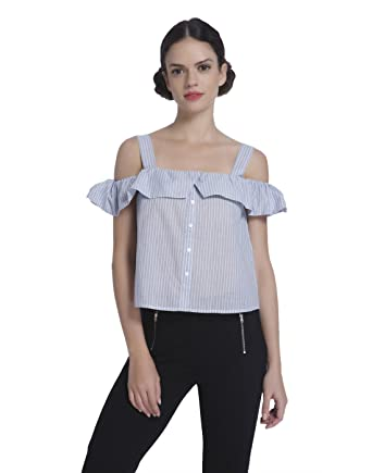 5948ee297fb74 ONLY Women s Body Blouse Top (15135607 Cloud Dancer 34)  Amazon.in  Clothing    Accessories