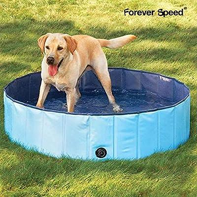 Forever Speed Piscina perros Gatos para perros grandes Portátil Bañera Baño de Mascota Plegable Piscina de Baño Doggy Pool 120 x 30 cm Azul: Amazon.es: Juguetes y juegos