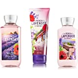 Bath & Body Works ~ Signature Collection ~* FRENCH LAVENDER & HONEY * ~ Shower Gel ~ Ultra Shea Body Cream & Body Lotion ~ 3 pc Gift Bag