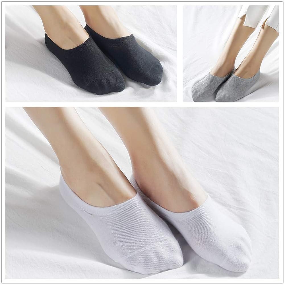 Falechay Calcetines Invisibles Tobilleros Mujer Hombre 10 pares Cortos Calcetin