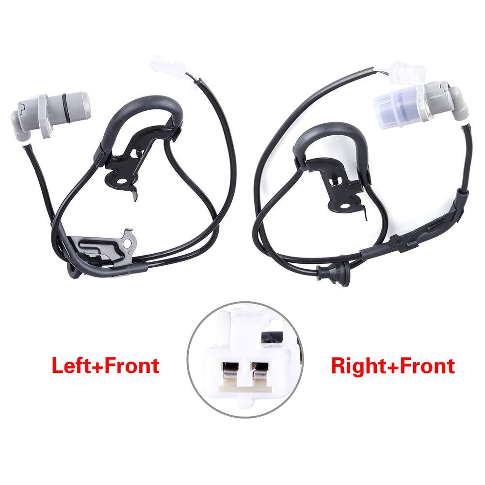 2 pcs Rear Left Right ALS265 ALS266 ABS sensors Fit for 1992-2001 Lexus ES300//Toyota Camry,1995-2004 Toyota Avalon,1999-2003 Toyota Solara cciyu Speed Sensor