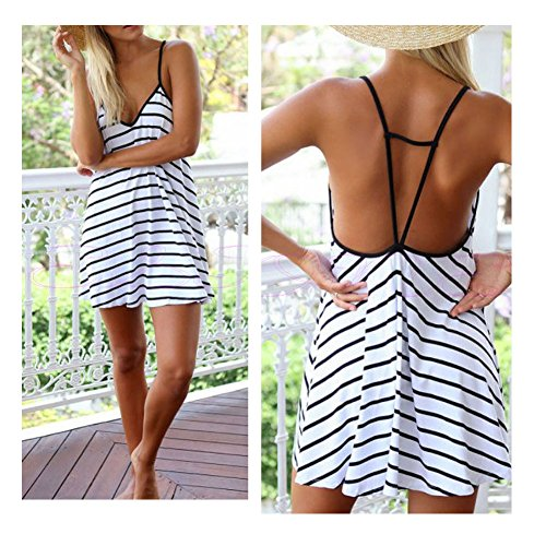 Cotton V-neck Halter Dress - 7