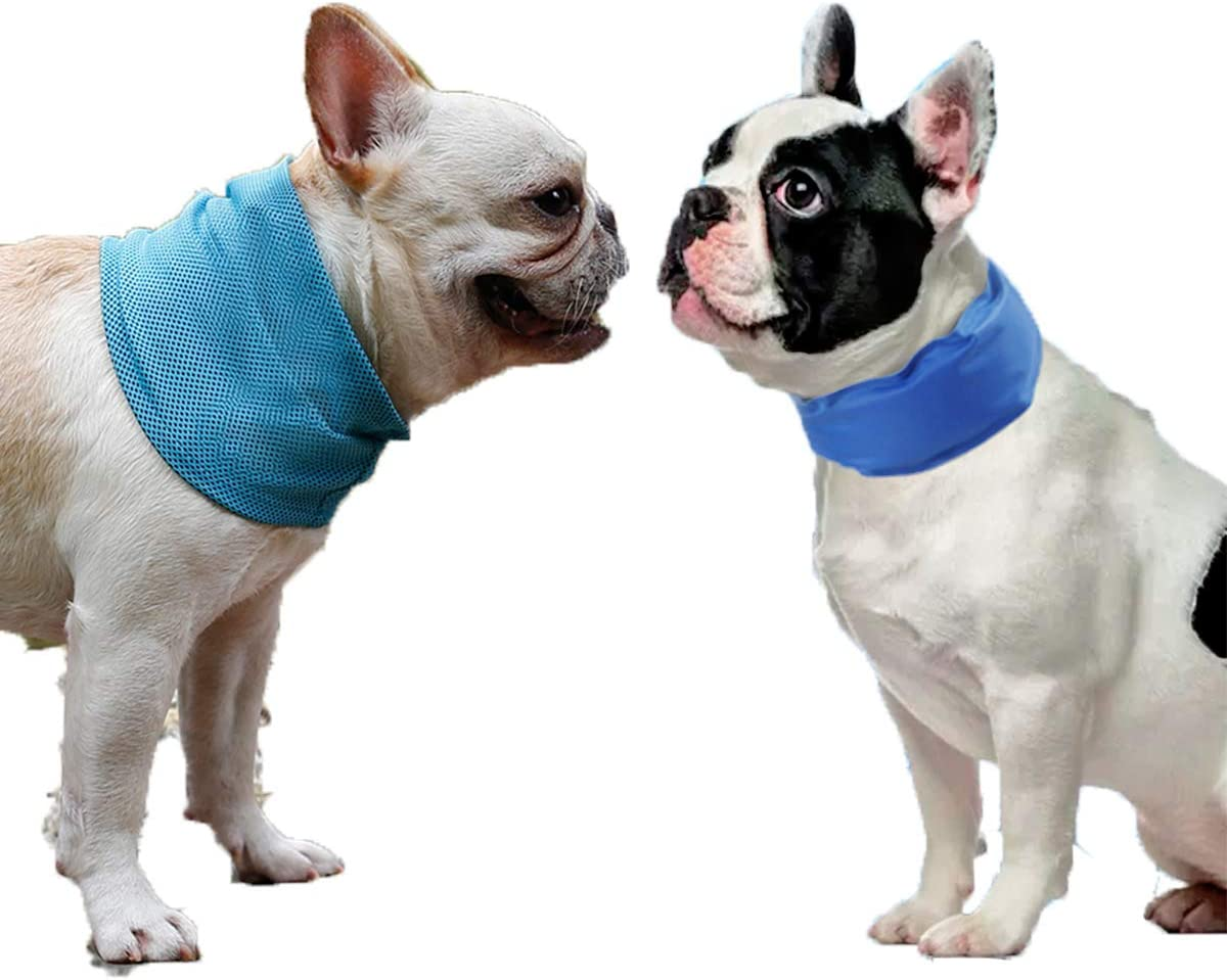 2PCS Cooling Dog Collar with Adjustable Neck Scarf, Pet Chill Out for Summer 3 Different Sizes Cooling Collar