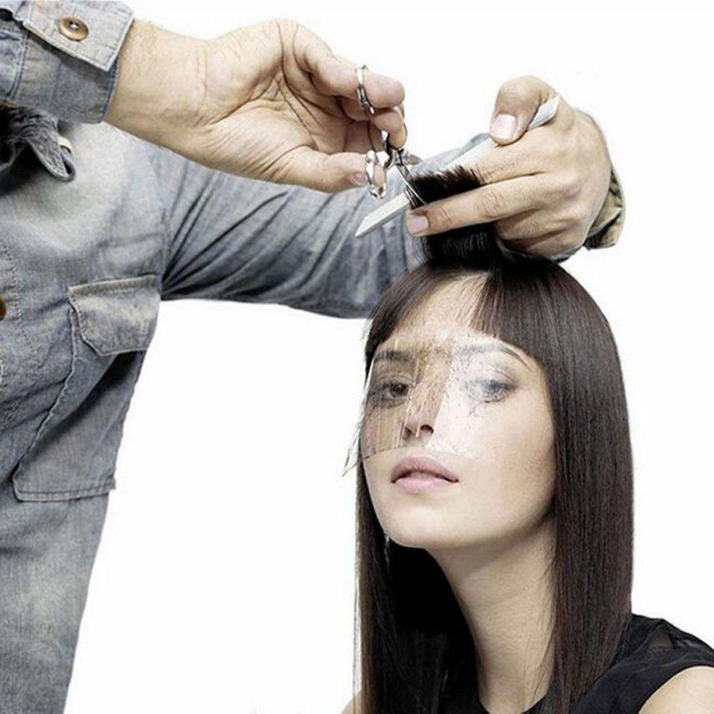 Transparent Bang Sticker 50PCS Protector eyes ,Forehead Haircut product Barber Hairspray Shield Mask Bang trimmer Lumiery